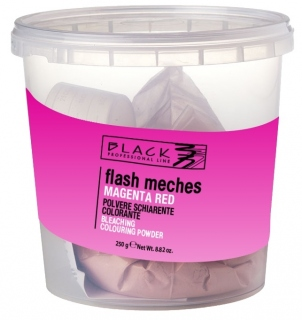 Black Flash Meches Colorante Red Magenta 250g farebný melír